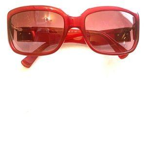 Authentic Coach Burgandy Sunglasses